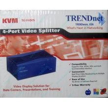 Видеосплиттер TRENDnet KVM TK-V400S (4-Port) в Балаково, разветвитель видеосигнала TRENDnet KVM TK-V400S (Балаково)