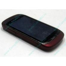Красно-розовый телефон Alcatel One Touch 818 (Балаково)