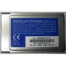 Сетевая карта 3COM Etherlink III 3C589D-TP (PCMCIA) без LAN кабеля (без хвоста) - Балаково